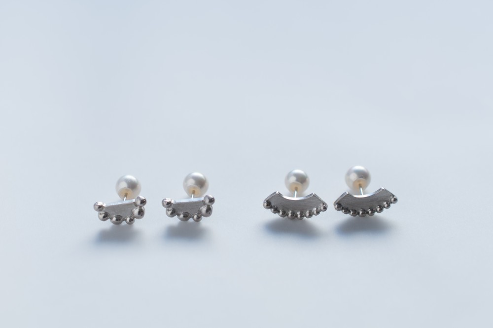 pierce / silver 925 . pearl(キャッチ) - poco  tuki -  -