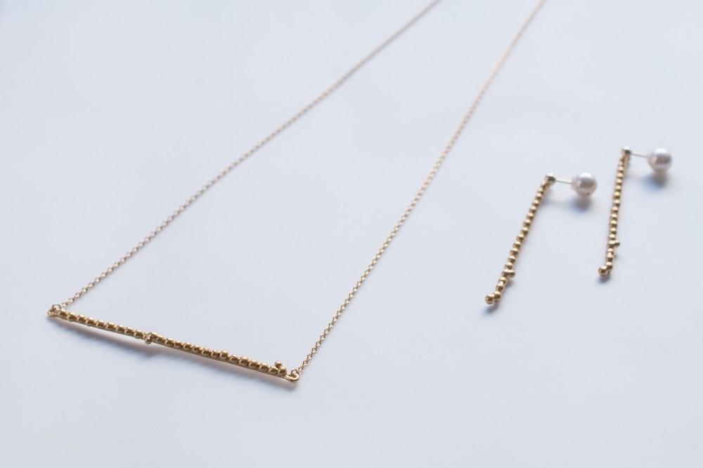 necklace  /  long - 18k coating (silver 925) -  -