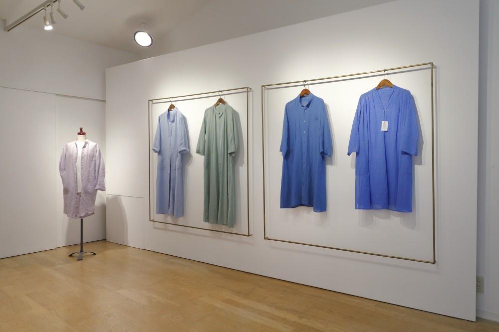 「RIPOSO. かろやかな洋服展」(展示空間構成) -