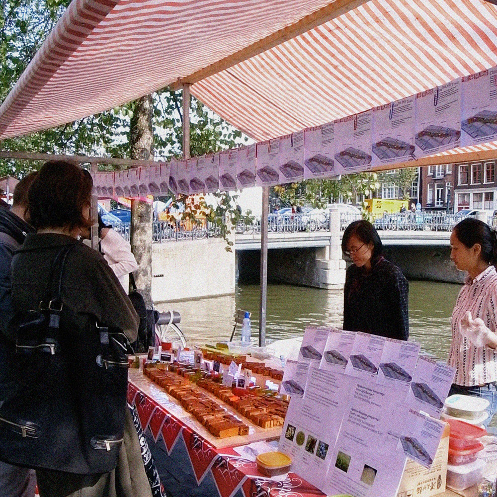 - China Tea Jelly Town stall has been set at Geldsekade, Amsterdam -  -