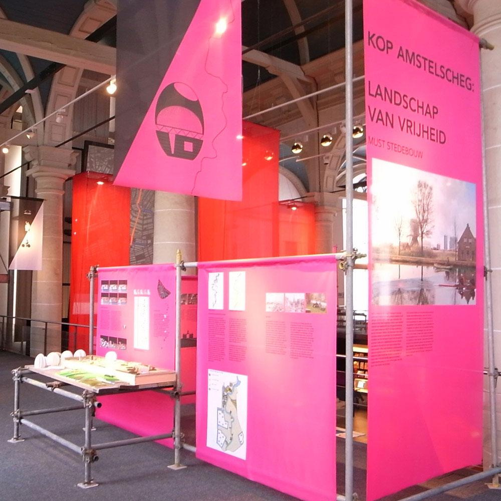 - Exhibition booth of Kop Amstelscheg: Landschap van vrijheid by MUST stedebouw. -  -