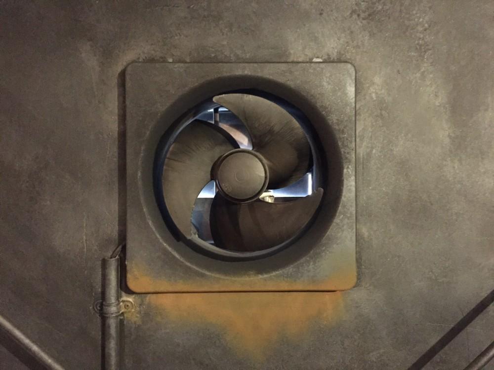 MPF - 石膏ボードと新品の換気扇をアイアン錆塗装 -  -