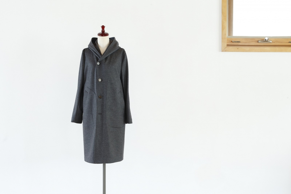 WOOL KNIT COAT -