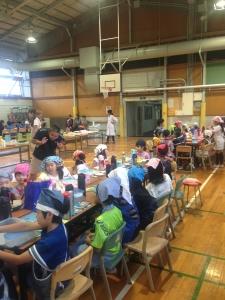 松恵小学校の収穫祭にて。
