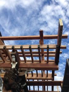 工事中スナップ。垂木をかける。