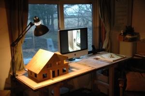 新プロジェクト、とものいえ2の模型と写真も見てもらいました。