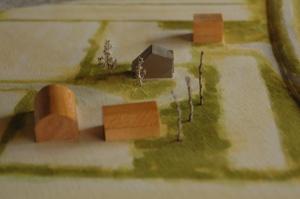 敷地模型。場所はとものいえからすぐです。