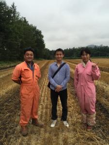 森田さんご夫妻と村田さん。ありがとうございました!