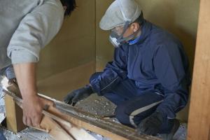 大事なのは解体の手順。  photo Mihoko Tsujita