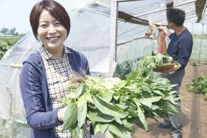 今回はとものいえでランチ。まずは収穫から。  photo Mihoko Tsujita