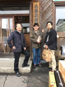 鈴木副社長と駆けつけてくださったウクレレ奏者の中村さんと。ありがとうございます!
