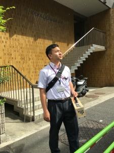 ぎょれん(北海道漁業協同組合連合会)の東京支店へ。モデルではなくKさん。
