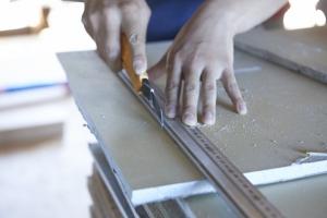 さああ午後からは石膏ボードを貼ります。  photo Mihoko Tsujita