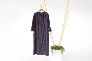 INDIGO ONE PIECE - RIPOSO. INDIGO ONE PIECE (本藍染めワンピース)COTTON/100