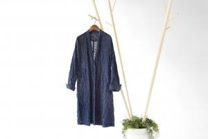 INDIGO SHIRT ONEPIECE - RIPOSO. INDIGO SHIRT ONEPIECE (本藍染めシャツワンピース)COTTON/100