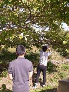 松尾謙さんと飯田あやさんのたるまる学校 [AIR+] - 27日は松尾謙さんと飯田あやさんのたるまる学校。こども広報部「びとこま」のメンバーや樽前小学校の子どもたちも集まって、音と体のワークです。外の気になる音を採取します。砂利の音、木をたたく音、葉っぱが擦れ合い音、などなど次々に録音していきます。後半はその音と不思議なスピーカーを使って、自分たちの音を探しながら、ダンスをしてしまうワークです。本日28日16:00からはその音もつかった音響で、ライブパフォーマンスを開催します。ギャラリーレオ(苫小牧市樽前114)入場無料。ぜひお越し下さい!