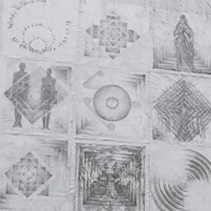 富樫幹 - 1982年生まれ、札幌市手稲出身。平面画によるインスタレーションを展開。今までに4回の個展の開催と、多数のグループ展、ライブイベントに参加。・点や線の錯覚や円や三角や四角の死角に隠れし核を視覚に書くよう、果敢に感覚で掴んだ間隔を描く。(てんやせんのさっかくやえんやさんかくやしかくのしかくにかくれしかくをしかくにかくよう、かかんにかんかくでつかんだかんかくをかく。)http://togac.exblog.jp/