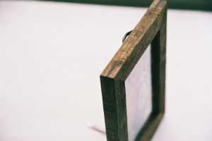 四隅は黒檀(こくたん)で。 Corner joint with ebony